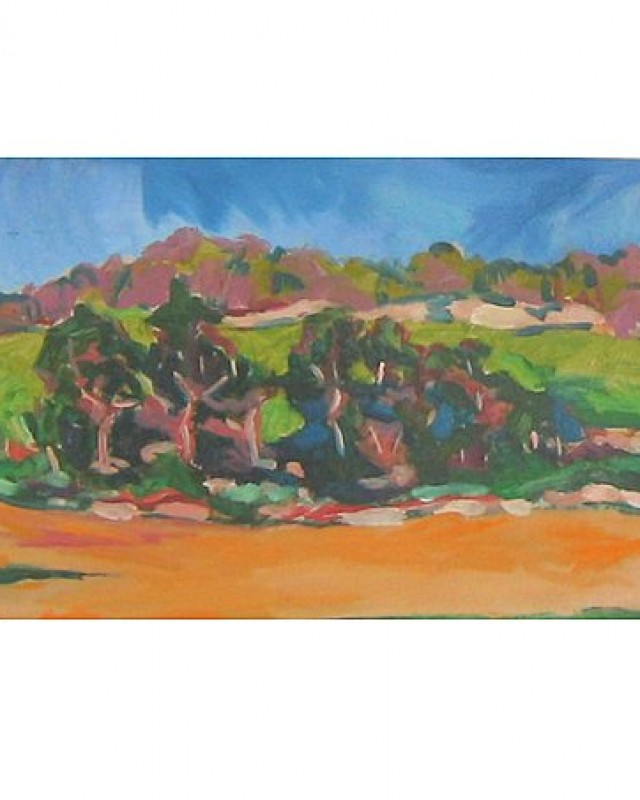 artist: Rebeca Muñoz Carrilero category; Painting - Landscapes name: nearby grove (2007)