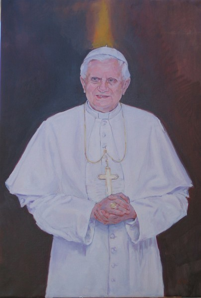 Rebeca Muñoz Carrilero - Art Work - Benedicto XVI, Sala de la Mercé, Catedral de Barcelona