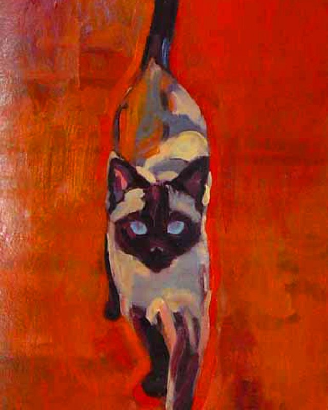 artist: Rebeca Muñoz Carrilero category; Painting - Animals name: misi  (2007)