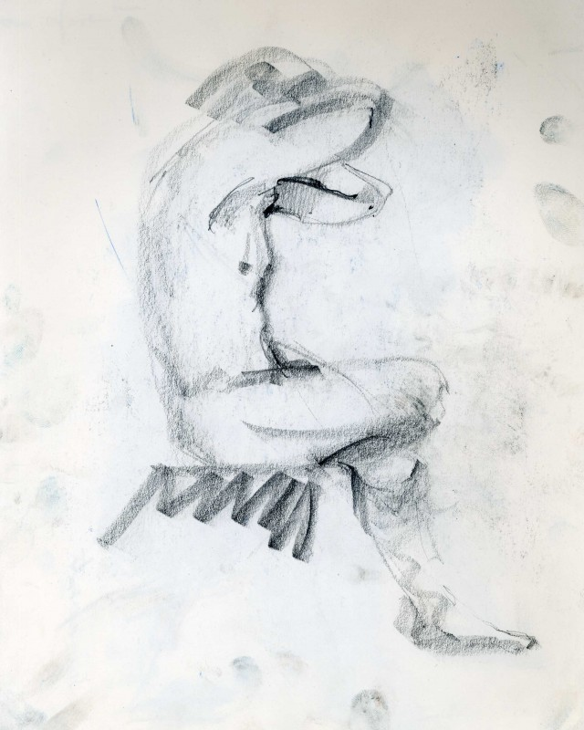 artist: Rebeca Muñoz Carrilero category; Drawing - Portraits name: model 2 (1993)