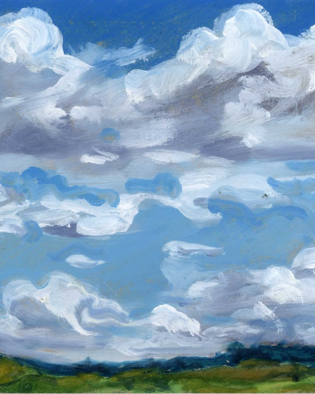 artist: Rebeca Muñoz Carrilero category; Painting - Landscapes name: June's clouds (2013)