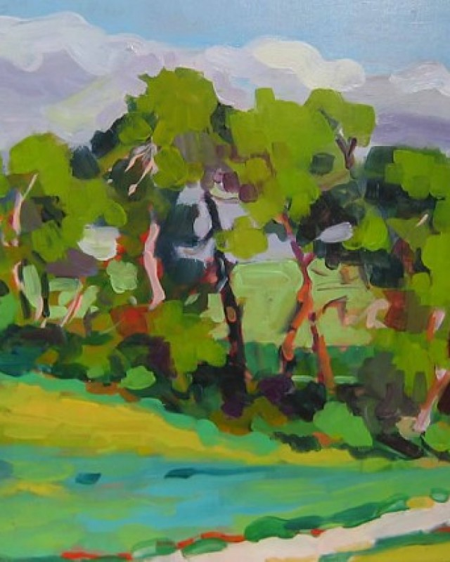 artist: Rebeca Muñoz Carrilero category; Painting - Landscapes name: Pinos (2008)