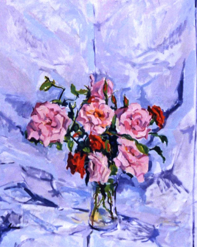 artist: Rebeca Muñoz Carrilero category; Painting - Landscapes name: roses (2005)